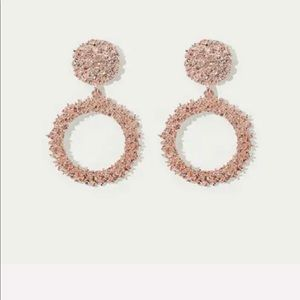 Textured Rose Gold Hoops
